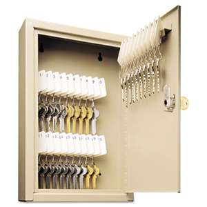 MMF INDUSTRIES Uni-Tag Key Cabinet, 30-Key, Steel, Sand, 8 x 2 5/8 x 12 1/8