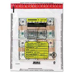 MMF INDUSTRIES 4 Bundle Capacity Tamper-Evident Cash Bags, 15 x 20, Clear, 250 Bags/Box