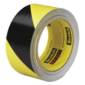 3M/COMMERCIAL TAPE DIV. Caution Stripe Tape, 2w x 108ft Roll