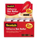 Scotch 6055BNS Adhesive Dot Roller Value Pack, 0.3 in x 49 ft., 4/PK