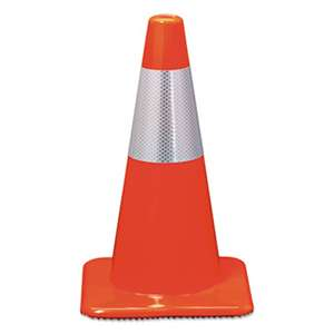 3M/COMMERCIAL TAPE DIV. Reflective Safety Cone, 11 1/2 x 11 1/2 x 18, Orange