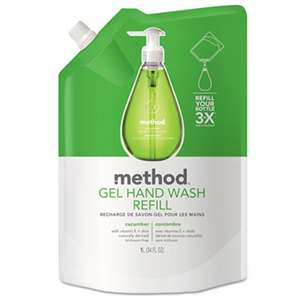 METHOD PRODUCTS INC. Gel Hand Wash Refill, Cucumber, 34 oz Pouch