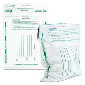 QUALITY PARK PRODUCTS Poly Night Deposit Bags w/Tear-Off Receipt, 10 x 13, Opaque, 100 Bags/Pack