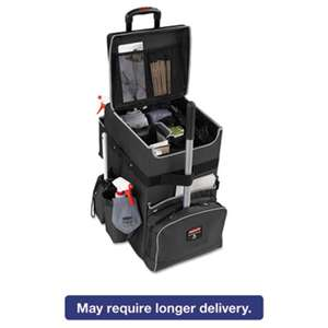RUBBERMAID COMMERCIAL PROD. Executive Quick Cart, Large, 14 1/4 x 16 1/2 x 25, Dark Gray