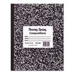 ROARING SPRING PAPER PRODUCTS Marble Cover Composition Book, Wide Rule, 8 1/2 x 7, 36 Pages