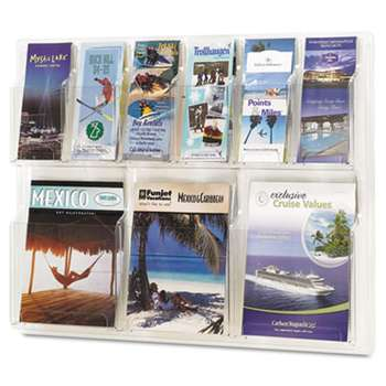 SAFCO PRODUCTS Reveal Clear Literature Displays, Nine Compartments, 30w x 2d x 22-1/2h, Clear