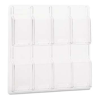 SAFCO PRODUCTS Reveal Clear Literature Displays, Eight Compartments, 20 1/2w x 20 1/2h, Clear