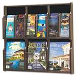 SAFCO PRODUCTS Expose Adj Magazine/Pamphlet Six Pocket Display, 29-3/4w x 26-1/4h, Mahogany