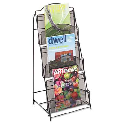 Safco Solid Wood Wall-Mount Literature Display Rack 11-1//4w x 3-3//4d x 48h,...