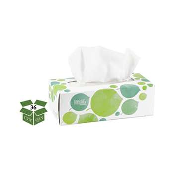 SEVENTH GENERATION 100% Recycled Facial Tissue, 2-Ply, 175/Box, 36/Carton