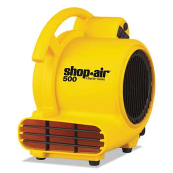 "SHOPVAC Mini Air Mover, Yellow, 8"", Plastic, 500 cfm"