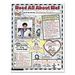 "SCHOLASTIC INC. Instant Personal Poster Sets, Read All About Me, 17"" x 22"", 30/Pack"