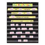 SCHOLASTIC INC. Standard Pocket Charts, 34 x 44, Black/Clear