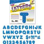 "TREND ENTERPRISES, INC. Ready Letters Sparkles Letter Set, Blue Sparkle, 4""h, 71/Set"