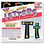 "TREND ENTERPRISES, INC. Ready Letters Alpha-Beads Letter Combo Pack, Black,Multiple Colors, 4""h, 216/Set"