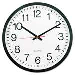 "UNIVERSAL OFFICE PRODUCTS Round Wall Clock, 12 5/8"" dia., Black"
