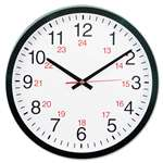 "UNIVERSAL OFFICE PRODUCTS 24-Hour Round Wall Clock, 12 5/8"", Black"