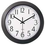 "UNIVERSAL OFFICE PRODUCTS Whisper Quiet Clock, 12"", Black"