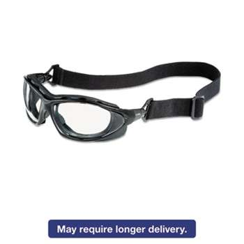 HONEYWELL ENVIRONMENTAL Seismic Sealed Eyewear, Clear Uvextra AF Lens, Black Frame