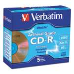 VERBATIM CORPORATION UltraLife Gold Archival Grade CD-R w/Branded Surface, 700MB 52X, 5/PK Jewel Case