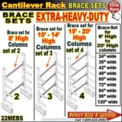 22MEBS / BRACES for Cantilever Rack Column