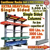 22MEDS / Single Sided EXTRA-Heavy-Duty Cantilever Column