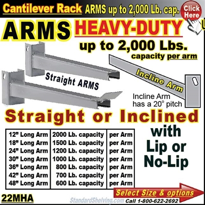 22MHA / ARMS for Cantilever Rack Column