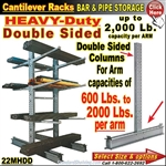 22MHDD / Double Sided Cantilever Rack Column