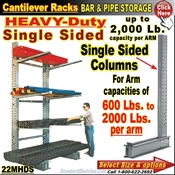 22MHDS / Single Sided Heavy-Duty Cantilever Rack Column