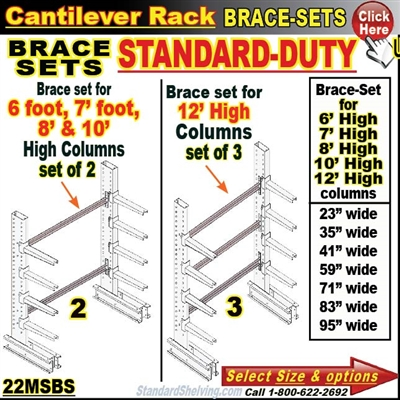 22MSBS / BRACES for Cantilever Rack Column