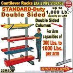 22MSDD / Double Sided Cantilever Rack Column