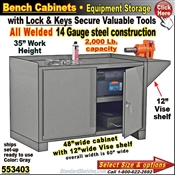 553403 / Heavy-Duty Bench Storage Cabinet