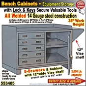 Heavy-Duty 5-Drawer Bench Storage Cabinet
