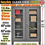 55CLV / Clear-View Heavy-Duty Storage Cabinets