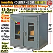 55CTC / Clear-View Heavy-Duty Counter Storage Cabinets