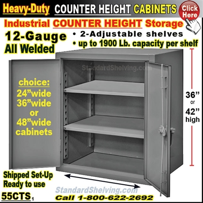55CTS / Counter Height Solid-Door Storage Cabinets