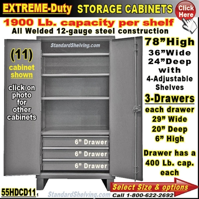 55HDCD / Heavy-Duty Storage Cabinets with Drawers