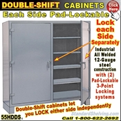 Double Shift Storage Cabinets