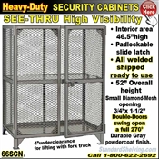 66SCN / Heavy-Duty See-Thru BULK Security Storage Cabinets