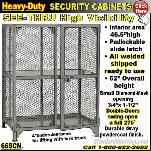 66SCN / Heavy-Duty See-Thru BULK Security Storage Cabinets  sc 1 th 225 & BULK Security Storage Cabinets