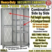 66SLC / Heavy-Duty See-Thru Combo-Security Storage Cabinets