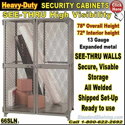66SLN / Heavy-Duty See-Thru BULK Security Storage Cabinets