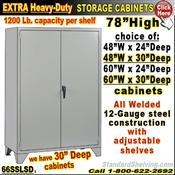 66SSLSD / Heavy-Duty Steel Storage Cabinets