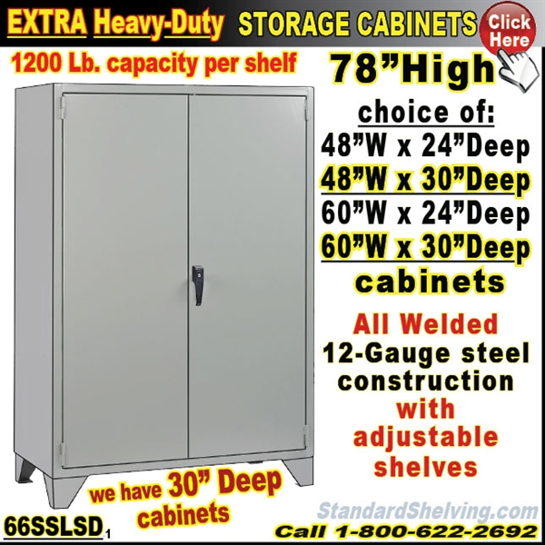 66SSLSD / Heavy Duty Steel Storage Cabinets