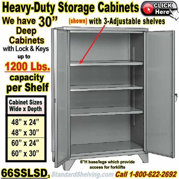 (PRODUCT CODE: 66SSLSD) .... Heavy Duty Welded Steel 12 Gauge High Capacity Storage  Cabinet ...