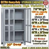 66SSLVD / Heavy-Duty VENTED-DOOR Storage Cabinets