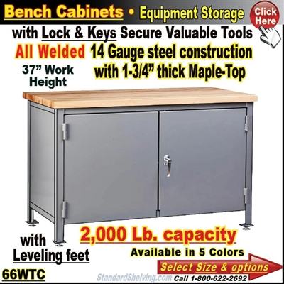 66WTC / Heavy-Duty Bench Storage Cabinet