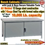 66WWC / EXTRA-Heavy-Duty Bench Storage Cabinet
