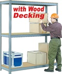 RIVET-LOCK BULK-SHELVING WITH WOOD DECKING (77-1001)