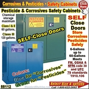Corrosive and Pesticide Safety Cabinets